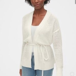 NWT Gap Women's Tie-Front Open Cardigan